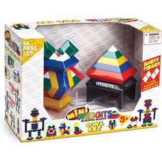 $19.99 Owl Set, lets you stack, nest,align and arrange wedge-shaped plastic blocks in an endless stream of creativity!
