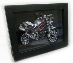 Quadro Decorativo 3d Moto Ducati 18x24cm