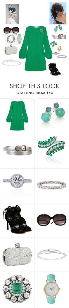 """2024 - Garden Party"" by dezac-novaes on Polyvore featuring Maje, Ippolita, Marc Jacobs, VanLeles, Tiffany & Co., Tabitha Simmons, Chanel, Alexander McQueen and Olivia Pratt"