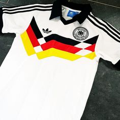84c9ae935 West Germany retro white home football shirt 1988-1990 Football Kits