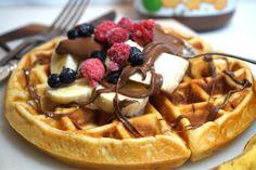 Belgiska våfflor - bästa receptet - Victorias provkök Waffles, Pancakes, Fika, Something Sweet, No Bake Desserts, Nutella, Deserts, Goodies, Brunch