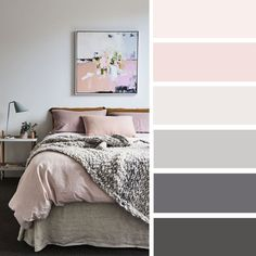The Best Color Schemes for Your Bedroom – Grey and Mauve. Find bedroom color ideas ,bedroom color scheme,mauve bedroom, color scheme for bedroom, grey bedroom Hygge Living Room, Room Colors, Bedroom Colour Palette, Bedroom Color Schemes, Bedroom Colors, Paint Colors For Living Room, Interior Design Bedroom Small, Interior Paint Colors For Living Room, Living Room Decor Gray