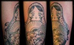 Matryoshka Geisha Tattoo