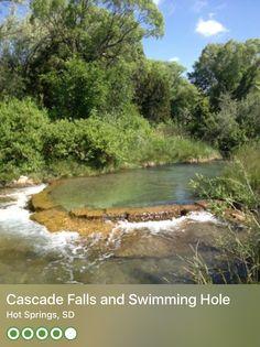 Cascade Falls and Swimming Hole (Hot Springs, SD) – Deadwood South Dakota, Sioux Falls South Dakota, North Dakota, South Dakota Vacation, Vacation Wishes, Vacation Ideas, Cascade Falls, Hot Springs Arkansas, Natural Spring Water