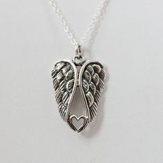 FashionJunkie4Life - Angel Wing Heart Necklace in Sterling Silver, $20.00 (http://www.fashionjunkie4life.com/angel-wing-heart-necklace-in-sterling-silver/)