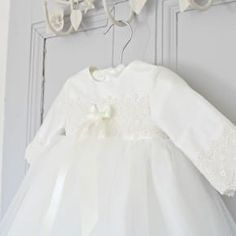 17a2a51edd1d Long Sleeved Christening Gown. Lisa Long Sleeved Christening Gown. Adore  Baby - Christening Gowns