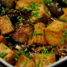Spicy Thai Eggplant & Tofu Recipe...looks interesting. Sub squash and zucchini for rice noodles! :)