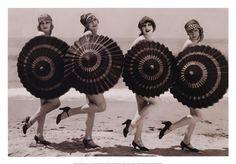 cute umbrella beach girls