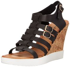 Qupid Women's Happa-03 Wedge Sandal -- Click image to review more details. #womensandals
