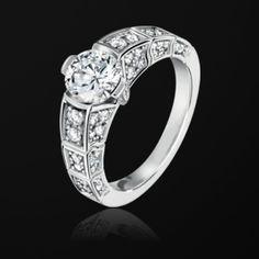 White Gold Diamond Engagement Ring G34L7300 - Piaget Wedding Jewelry Online