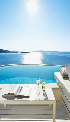 blue and white: the inspiration behind chartwellandg, the British luxury resort wear brand. What a view! #blue #vacation