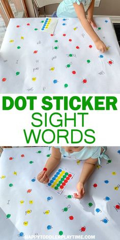 Dot Stickers Sight Word Match Happy Toddler Playtime Looking For A Fun And Easy Way To Practice Sight Words? Look at This Easy To Set Up Sight Word Game Using Dot Stickers Kindergarten Learning, Preschool Learning Activities, Toddler Learning, Fun Learning, Toddler Games, Interactive Learning, Preschool Science, Science Classroom, Classroom Decor