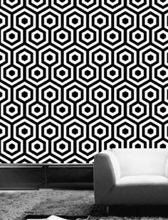 need black and white wallpaper Hexagono Wallpaper | Vanillawood