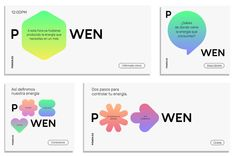 New Name, Logo, and Identity for POWEN by Saffron - Juieta Burndred Corporate Design, Corporate Identity, Identity Design, Brochure Design, Visual Identity, Tech Branding, Identity Branding, City Branding, Web Design