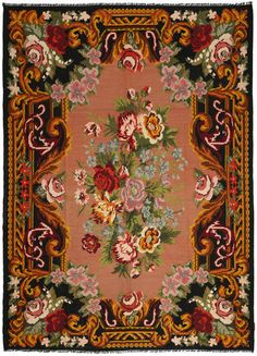 Kilim rugs are mainly woven by nomads using the traditional Kilim technique. Wall Carpet, Magic Carpet, Home Rugs, Rug Hooking, Floral Motif, Floor Rugs, Persian Rug, Kilim Rugs, Stained Glass