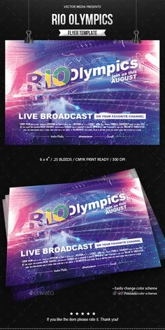 Rio Olympics Flyer Template PSD. Download here: https://graphicriver.net/item/rio-olympics-flyer/17367661?ref=ksioks