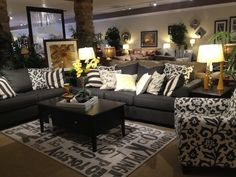 Ashley Furniture Living Room Sets Red levon charcoal sofa, loveseat & floral-print chair | living room