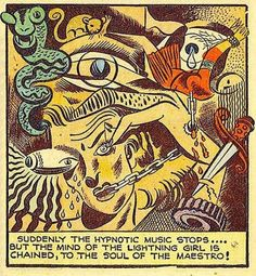 Suddenly, the hypnotic music stops. Vintage Humor, Vintage Comics, Funny Vintage, Art And Illustration, Comic Book Panels, Old Comics, Animation, Weird And Wonderful, Marvel Characters
