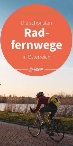 Viele wunderschöne Radtouren beginnen praktischerweise direkt in Österreich. Auf Radfernwegen zu fahren klingt erstmal ganz schön anstrengend – viele Touren sind aber variabel und man kann sich die Abschnitte frei einteilen. Wer bei diesem Gedanken immer noch ins schnaufen kommt, für den gibt es die wunderbare Erfindung namens E-Bike. Movie Posters, Bike Trails, Ride A Bike, Bike Rides, Inventions, Things To Do, Thoughts, Film Poster, Billboard