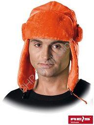 Pomarańczowa czapka uszanka CZOEXTREME