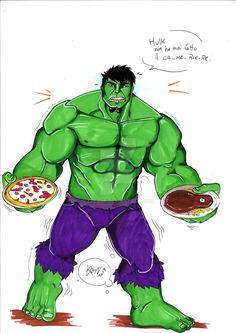 Hulk cameriere by eREIina.deviantart.com on @DeviantArt