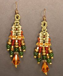 Micro Macrame Earring Patterns | josephine knot earrings these waxed linen earrings reminiscent of ...