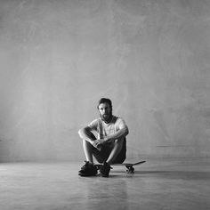 Portraits by Carly Webber. Skater + Autism Dad - Cameron Dubin. Kodak TriX Film and Mamiya C330 vintage camera.