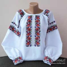 ідея вишиванки Polish Embroidery, Folk Embroidery, Embroidery Fashion, Embroidered Clothes, Embroidered Blouse, Ethno Style, Mexican Fashion, Stylish Dress Designs, Mod Dress