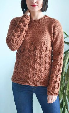 50 Free Best Crochet Sweater Making your personal sweater is a lot simpler than you would possibly assume! For this Easy Crochet Sweater Sample, all you want is 2 rectangles to ma. Easy Crochet, Free Crochet, Knit Crochet, Crochet Sweaters, Crochet Tops, Crochet Baby, Knitting Patterns Free, Free Knitting, Crochet Patterns