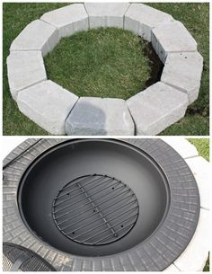 New Backyard Addition {Fire Pit on a Budget}