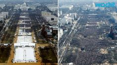 Left - Trump's Swearing-In  Right - Obama's Swearing-In