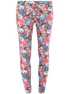 Multi pink slim floral jeans - View All New In - What's New - Dorothy Perkins