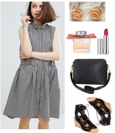 Gingham dress + quirky extras