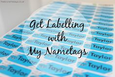 The Brunette Says...: Get Labelling with My Nametags