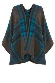 This chic cape is the perfect A/W cover up. The cape features an open front, super soft finish and all-over bold check design. Height of model shown: 5ft 10 inches/178cm. Model wears: UK size 10.Fabric:Lining: 100.0% Acrylic.Wash care:Machine WashProduct code: 02262974 £30.00