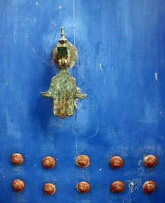 Essaouira, Morocco door detail. The texture is lovely.