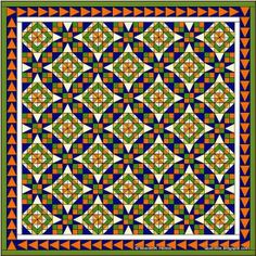 Bonnie Hunter's Celtic Solstice Mystery Quilt reveal ~ isn't this too cool! I am looking forward to making this using my scrap fabrics!