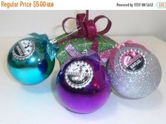 Big Fall Sale Personalized CHEER Ornaments - Your Choice of Color- Make a great Holiday Gift/Team Gifts