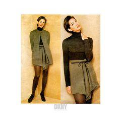 90s DKNY Womens Jacket & Wrap Skirt Vogue Pattern 1673, Bust 31.5 to 34, Uncut FF, Sophisticated, Avant Garde, Donna Karan
