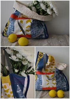 Bag- market bag. Hand printed, hand made. http://www.etsy.com/shop/BlueberryAsh