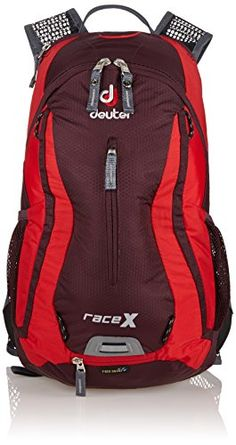 Deuter Race X Backpack with 3L Reservoir - Aubergine/Fire -- Want to know more, click on the affiliate link Amazon.com.