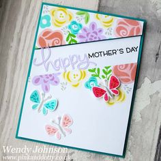 Mother's Day card using Fab Flowers by Lawn Fawn