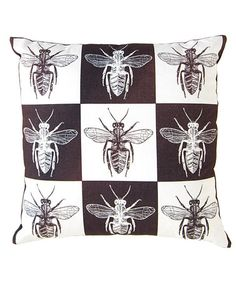 This Insect Throw Pillow is perfect! #zulilyfinds