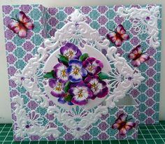 trapkaart met bloem