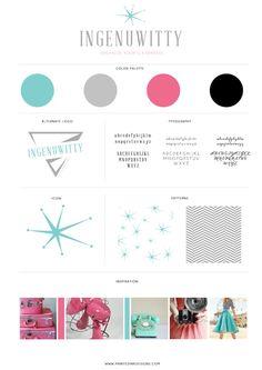 Ingenuwitty Brand Style Board — Printed Ink Designs