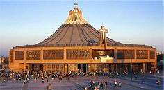 The Basilica of Our Lady of Guadalupe, a transforming place. Mexico City Tours, Places To Travel, Places To See, México City, Cathedral Church, Mexico Travel, Kirchen, Our Lady, Pilgrimage