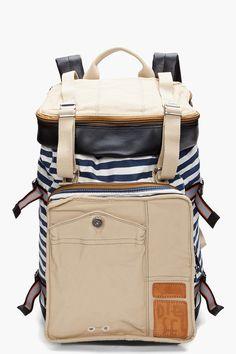 diesel / striped pop eye backpack