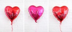 DIY hand lettered Valentine's Day balloons!