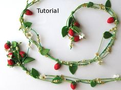 Tutorial. Strawberry bouquet polymer clay necklace.. $10.00, via Etsy.