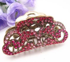 Fit long Hair New Vintage Hot pink color Swarovski Crystal Retro Copper Hair Claw Clip 812 >>> Sincerely hope that you do enjoy our picture. (This is our affiliate link) Wing Earrings, Rhinestone Earrings, Garra, I Love Jewelry, Hair Jewelry, Copper Hair, Metal Hair, Enchanted Jewelry, Knitting Needle Sets